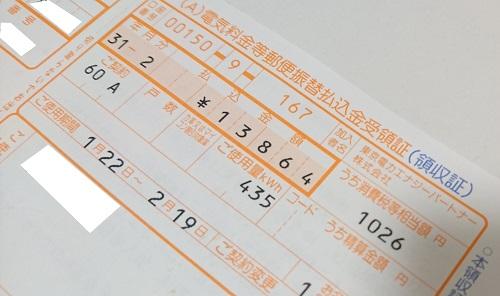 電気代の払込用紙